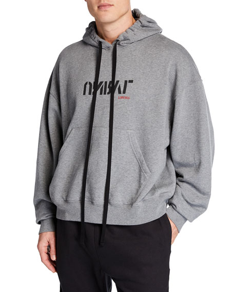 Ben Taverniti Unravel Project Tops MEN'S LOGO OVERSIZED HOODIE