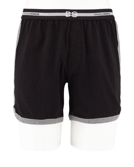 Dolce & Gabbana Men's Jersey Boxer Shorts In Black