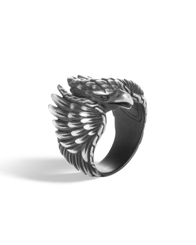 Men's Legends Eagle Silver Ring