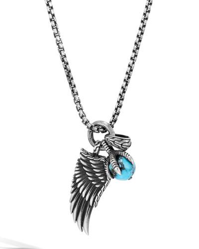 Men's Legends Eagle Amulet Pendant Necklace