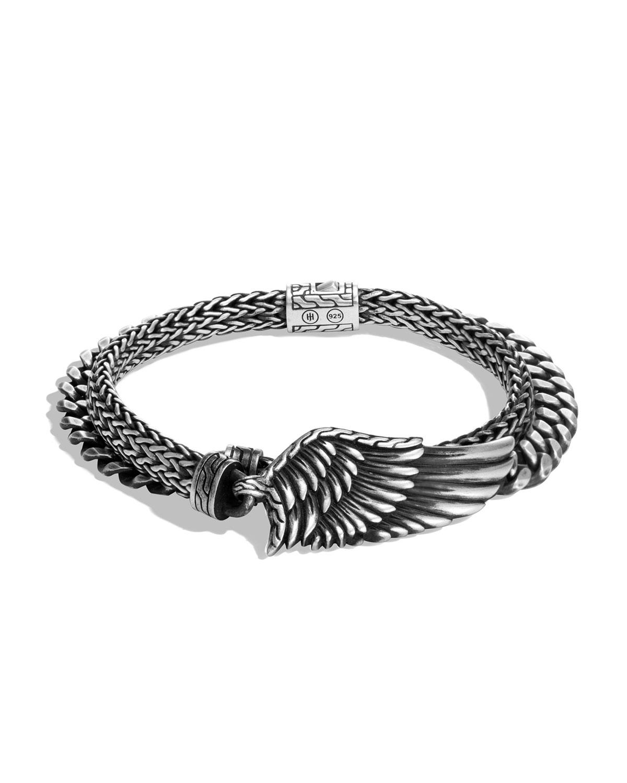 John Hardy Men's Legends Eagle Silver Double-Wrap Bracelet