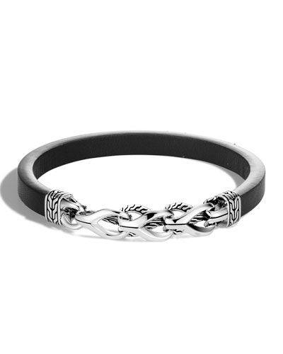 Men's Classic Chain 7mm Leather Cord