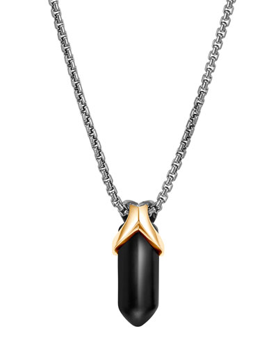 Men's Asli Classic Chain Black Onyx Necklace