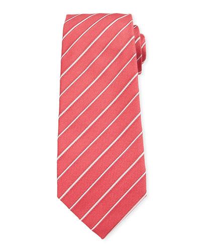 Two-Tone Stripe Silk Tie