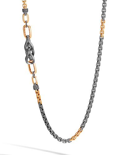 Men's Asli Classic Chain Necklace w/ Bronze Links