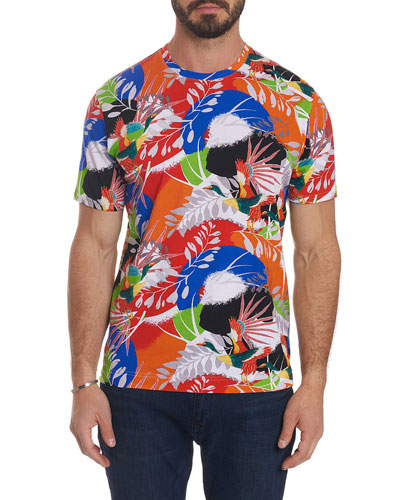 Men's Flying Crane Tropical T-Shirt