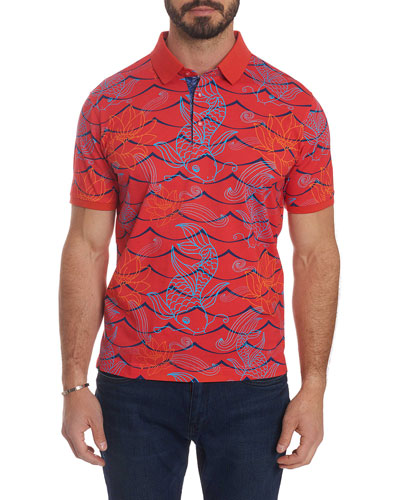 Men's Koi Fish Polo Shirt