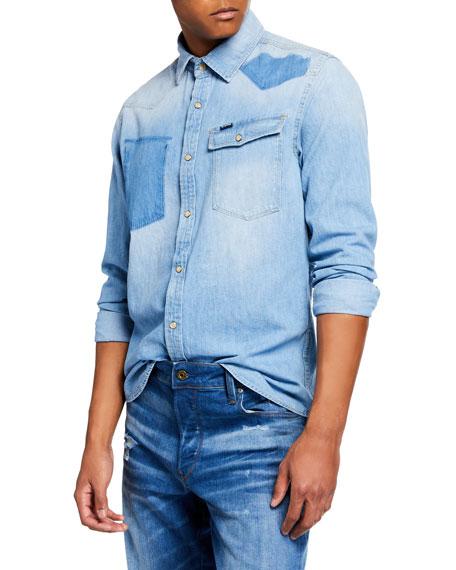Men's 3301 Light Vintage Aged Denim Shirt