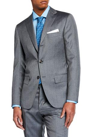Kiton Men's Herringbone Solaro Two-Piece Suit