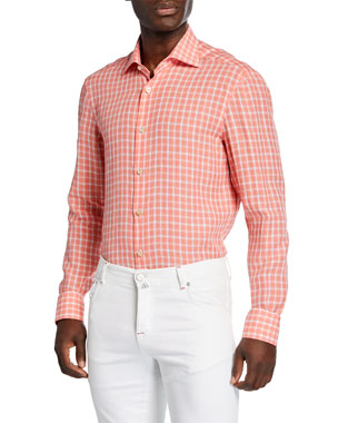 42f742ff2f Kiton Dress Shirts  Checks   Sports at Neiman Marcus