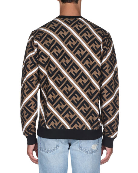 Fendi Men's Horizontal Stripe Sweatshirt