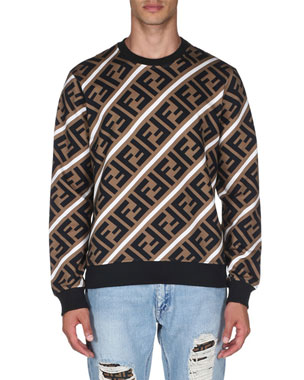 ed700446b46307 Fendi Men s Horizontal Stripe Sweatshirt