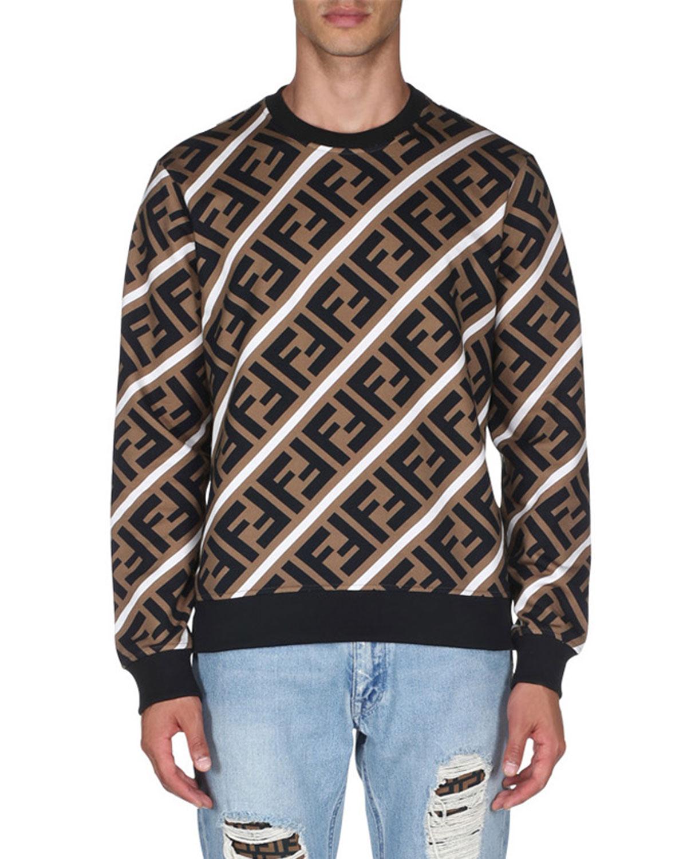 0479ccd56c77 Fendi Men s Horizontal Stripe Sweatshirt