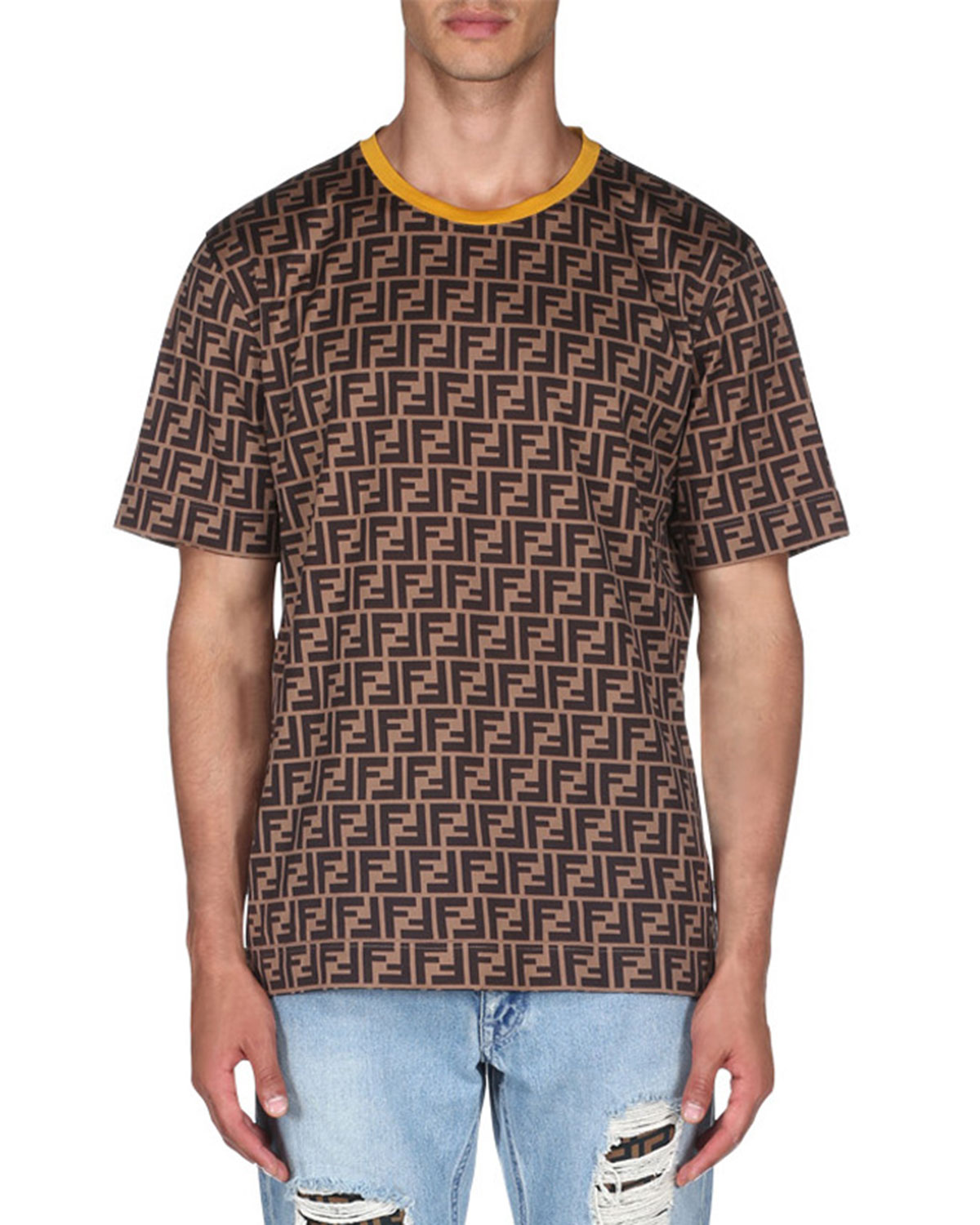 b6f82dae4af5 Fendi Men s Allover Print Short-Sleeve T-Shirt