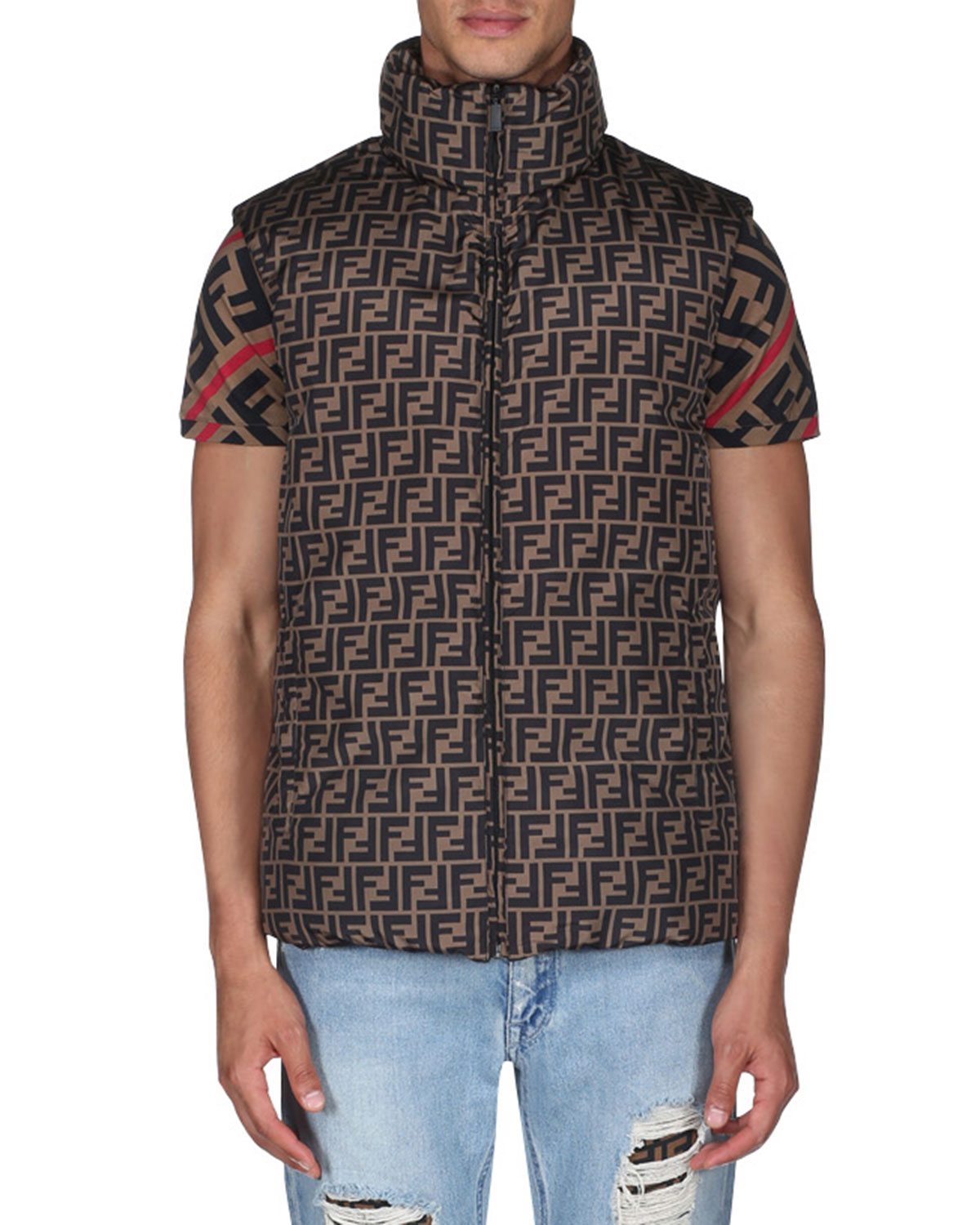 965357ffd38e80 Fendi Men s Reversible Down Quilted Vest