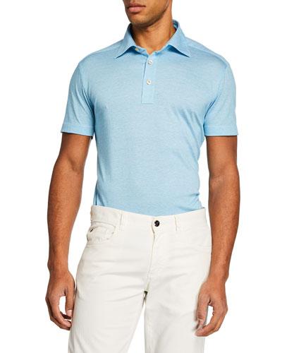 Men's Aqua Knit Polo Shirt