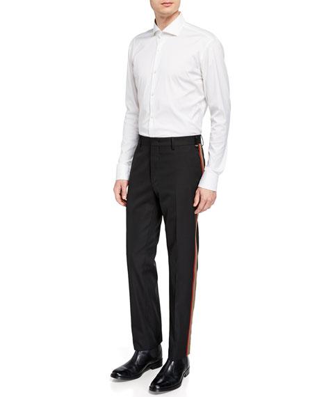 Fendi Men's Side-Striped Twill Pants