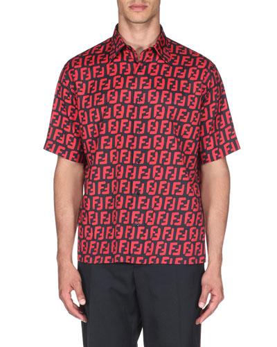 Men's Logo-Print Sport Shirt