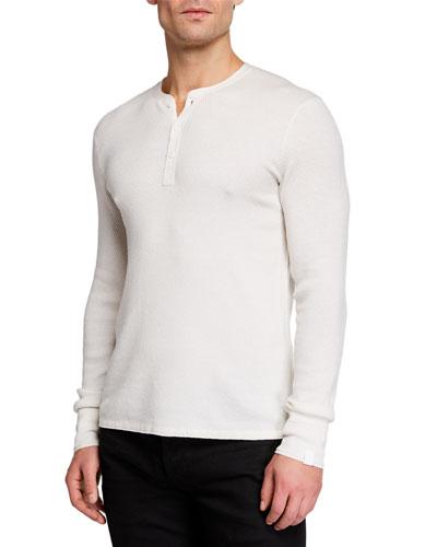Men's Davis Wool/Linen Henley Shirt