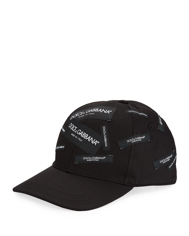 Dolce   Gabbana Men s Basic Logo Baseball Cap  9c38f857433