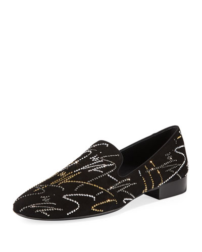 Men's Crystal Signature Slip-On Loafers
