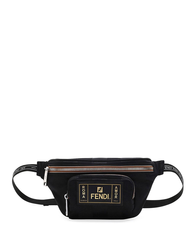 939443d8331f Fendi Men s Canvas Striped Belt Bag Fanny Pack