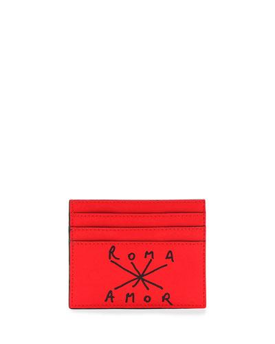 Men's Roma Amor Leather Card Case