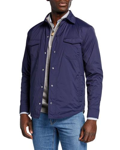 Men's Springtime Snap-Front Shirt Jacket