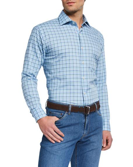 Peter Millar T-shirts MEN'S CROWN CHECK SPORT SHIRT