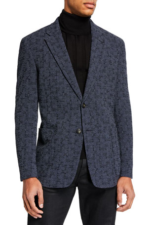 Emporio Armani Men's Textured Seersucker Two-Button Jacket