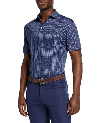 Men's Sean Midtown Paisley-Print Jersey Polo Shirt