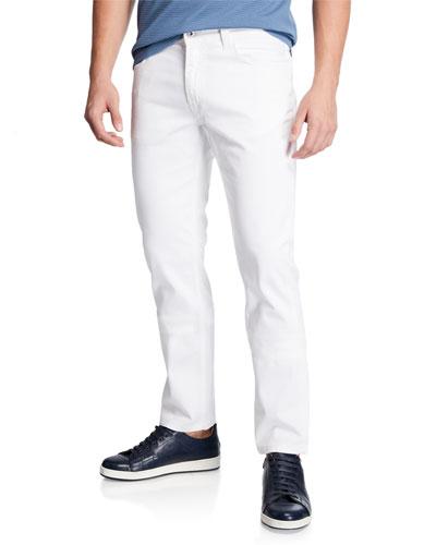 Men's Stretch-Cotton 5-Pocket Pants