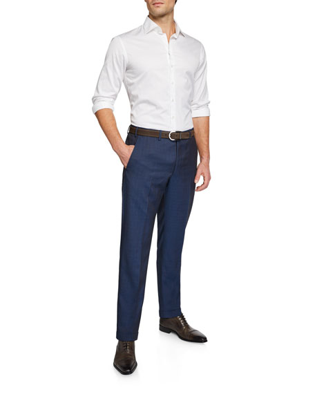 Men's Classic Wool Dress Trousers