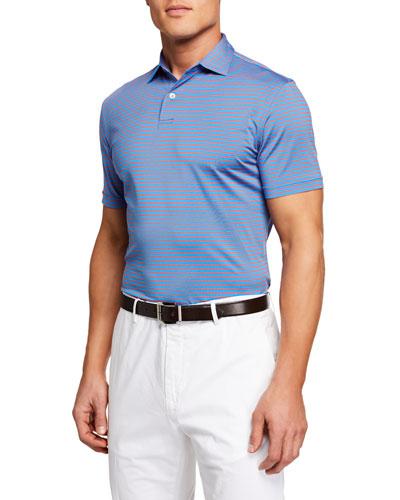 Men's Short Sleeve Miles Stripe Sean Polo Shirt