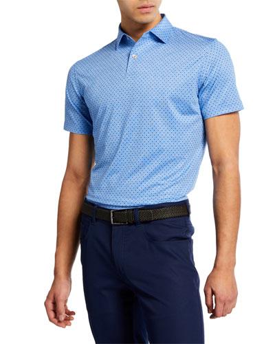 Men's Count Print Polka Dot Polo Shirt