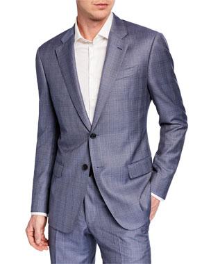 a11afa09059 Emporio Armani Men s G Line Super 140s Wool Plaid Two-Piece Suit