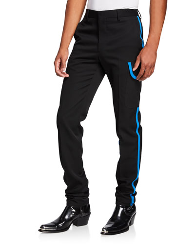 Men's Wool Scuba Pants w/ Contrast Trim