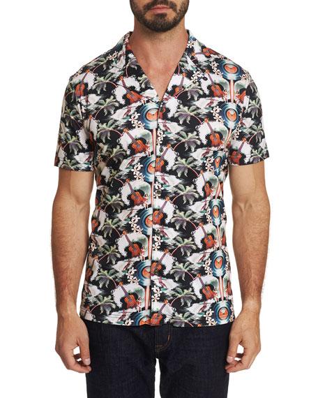 Robert Graham T-shirts MEN'S SHORT SLEEVE GUITAR CAMP SHIRT