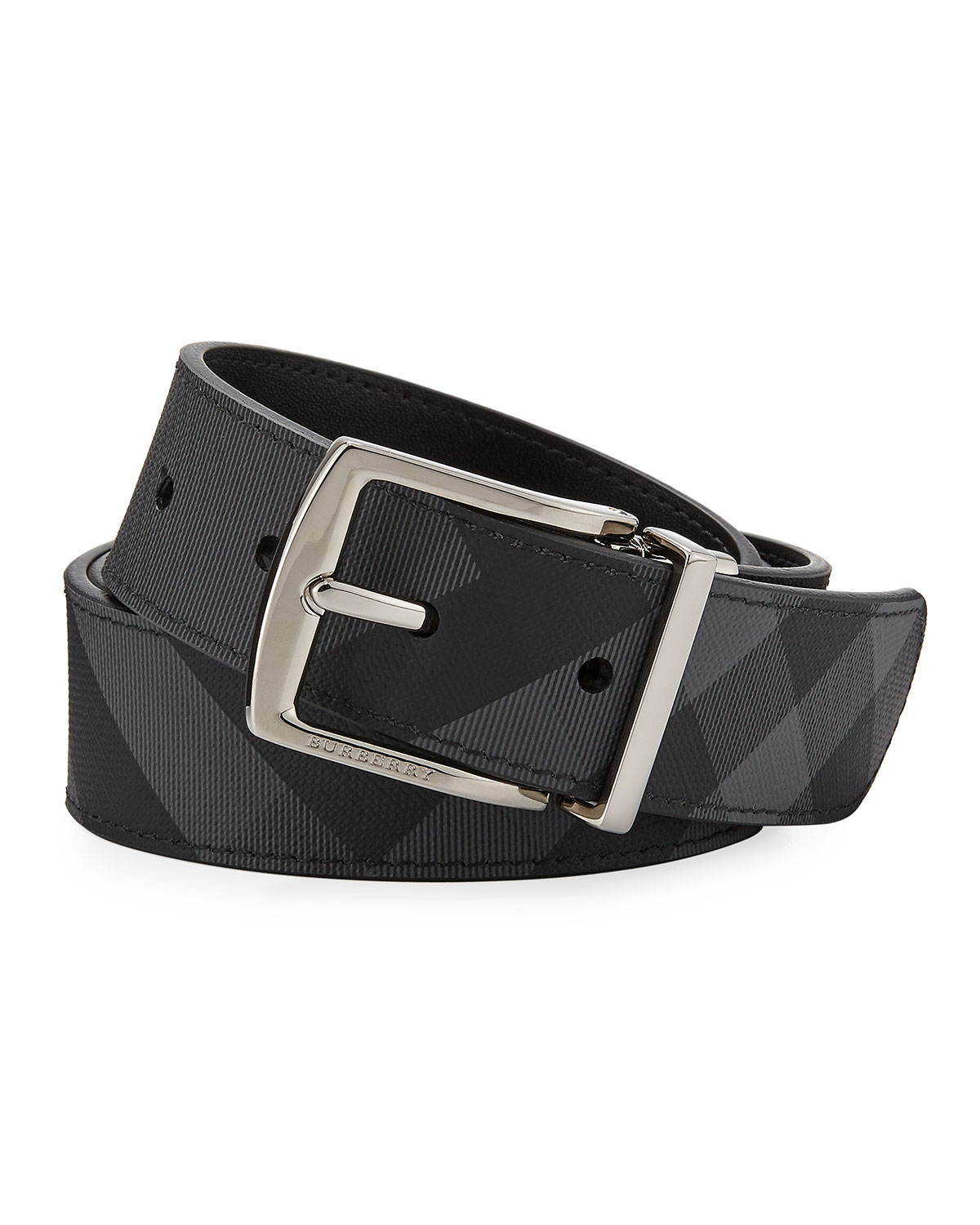 Men's Clarke Two Tone Check Belt by Burberry