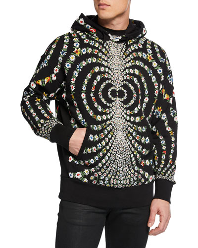 Men's Mirrored Daisy Pullover Hoodie