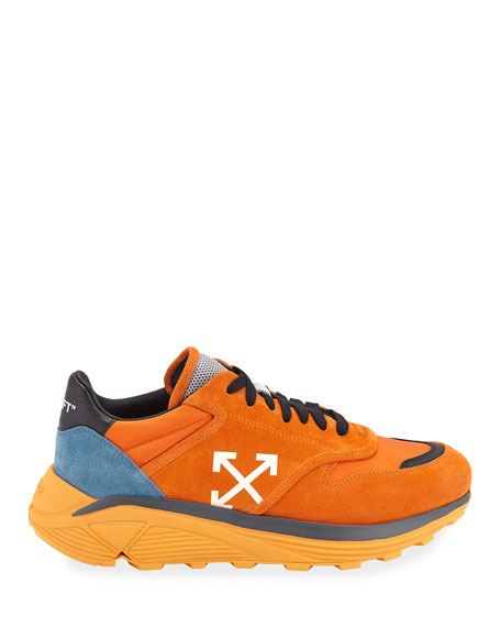 Off-White Men's Jogger Lace-Up Suede Sneakers