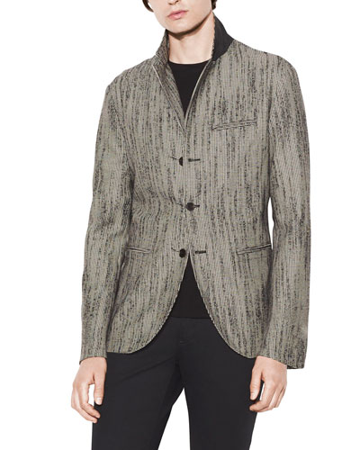 Men's Easy-Fit Button-Front Jacket