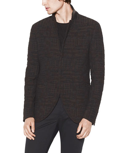 Men's Slim-Fit Hook-Front Jacket