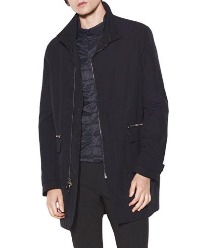 Men's Parka Coat with Detachable Jacket