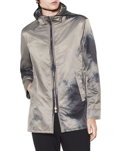 Men's Hooded Zip-Front Parka Coat
