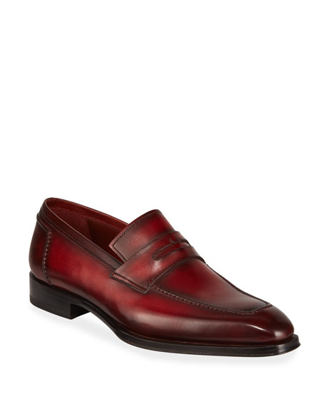 Magnanni for Neiman Marcus Men's Bol Wind Leather