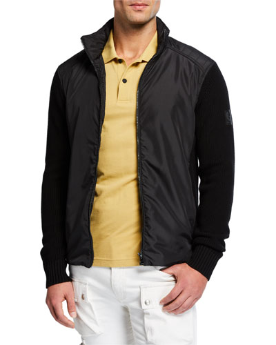 Men's Abbot Mixed-Media Racer Jacket
