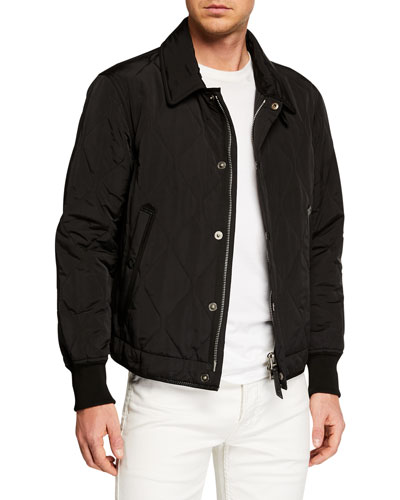 Men's Long-Sleeve Quilted Blouson