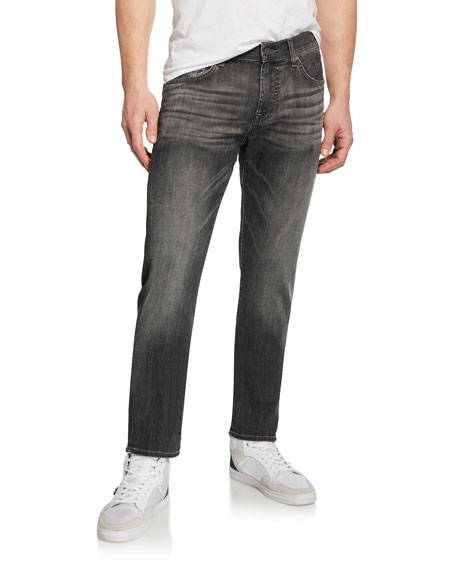 7 For All Mankind Men's Slimmy Slim Stretch-Denim Jeans, Cloudburst