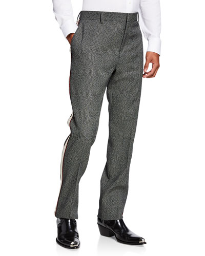 Men's Glen Plaid Wool Pants